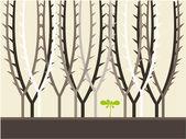 Tree background illustration — Stock Vector