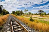 Railway and sky — Stock Photo