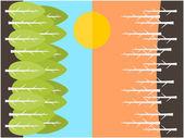 Baum-hintergrund — Stockvektor