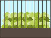 Ağaç arka plan illüstrasyon — Stok Vektör