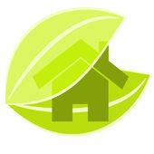 Hem gröna illustration — Stockvektor