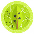 Home green illustration — Imagen vectorial
