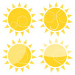 Stock Vector: Sun illustration