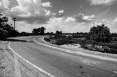 Strada e cielo — Foto Stock