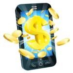 Dollar money phone concept — Stock vektor #10485045