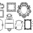 Graphic design decorative frames — Stock Vector