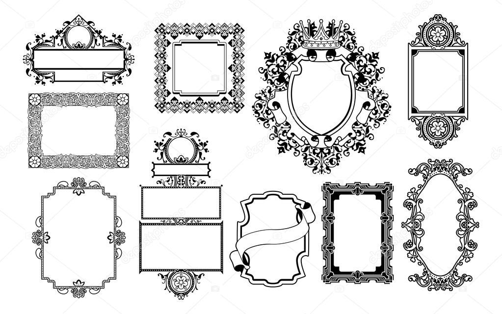 cadres d coratifs design graphique image vectorielle krisdog 12127827. Black Bedroom Furniture Sets. Home Design Ideas