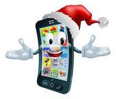 Happy Christmas-Handy — Stockvektor