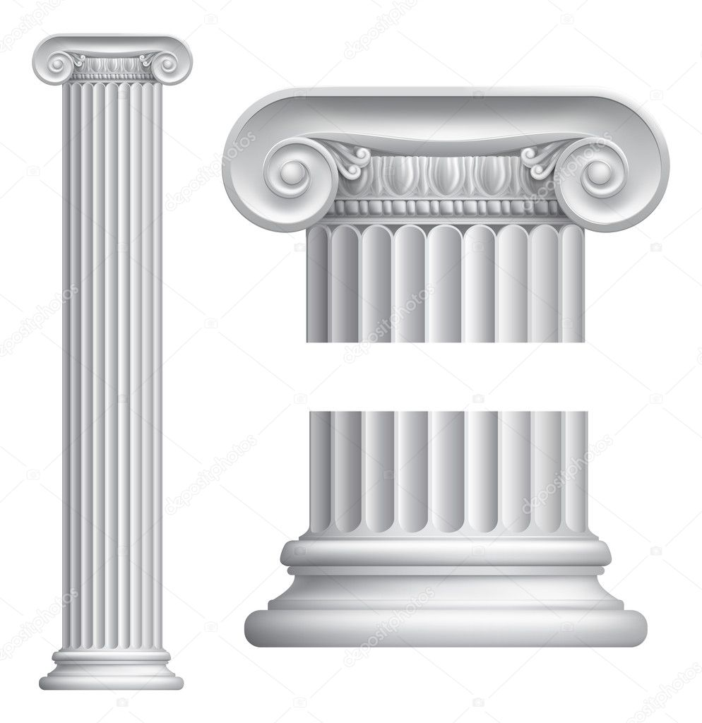 Ionic column — Stock Vector © Krisdog #12196254 Greek Columns Vector