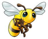 Cute Bee Character — Stock Vector