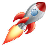 Cartoon rocket space ship — Vector de stock