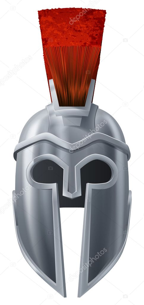 Illustration of Corinthian or Spartan helmet like those used in ancient Greece or Rome — Stock Vector #12386852