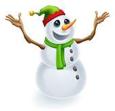 Happy Christmas Snowman — Stock Vector