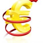 Rising Euro or profits — Stock Vector