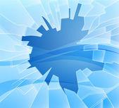 Broken glass illustration — Stock Vector