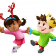 Royalty-Free Stock Imagen vectorial: Christmas party dancing