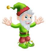 Garden gnome or elf — Stock Vector