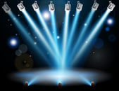 Blue lights concept — Stock Vector