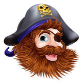 Pirate face illustration — Stock Vector