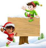 Christmas signillustration — Stock Vector