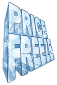 Price freeze sale illustration — 图库矢量图片