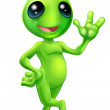Little green man alien — Stock Vector #12857632