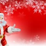 Red Santa Christmas Snowflake background — Stock Vector