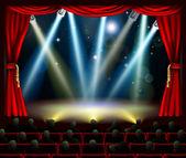 Begin van fantastische entertainment evenement — Stockvector