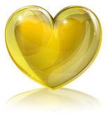 Corazón de oro — Vector de stock