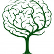 Stock Vector: Brain tree illustration