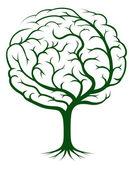 Ilustración de árbol cerebro — Vector de stock