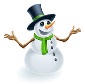 Fun Christmas Snowman — Stock Vector