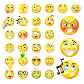 Emoticons — Stock Vector