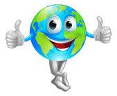 Cartoon globe mascot man — Stock Vector