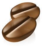 кофе в зернах иллюстрация — Cтоковый вектор