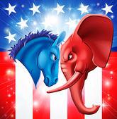 Concepto de la política americana — Vector de stock