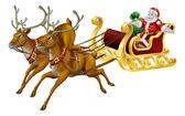 Trineo de navidad — Vector de stock