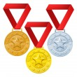 Stock Vector: Winners medals