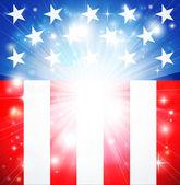Fond patriotique de drapeau américain — Vecteur