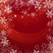 Stock Vector: Red Christmas snow background
