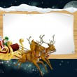 Santa Christmas Sleigh Background — Stock Vector