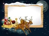 Santa Christmas Sleigh Background — Stock Vector