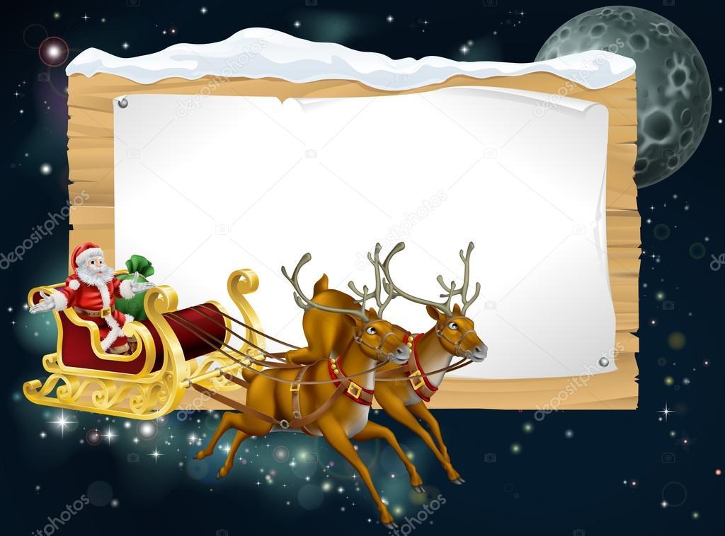 Santa Christmas Sleigh Background — Stock Vector © Krisdog ...