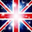 Union Jack flag background - Stock Vector