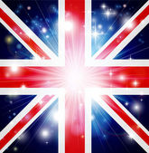 Union Jack flag background — Stock Vector