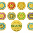 Royalty-Free Stock Vector Image: Winners medals