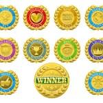 Winners medals — Stock Vector