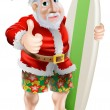 Thumbs up surfing Santa Claus — Stock Vector