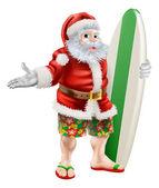 Surf Santa — Stock Vector