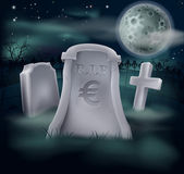 Euro grave concept — Stock Vector